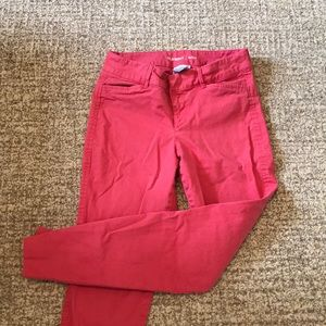 Old Navy Chino Pixie Pants coral size 0 regular